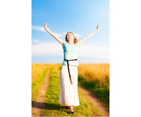 Mulher Feliz Felicidade Vida Saudavel