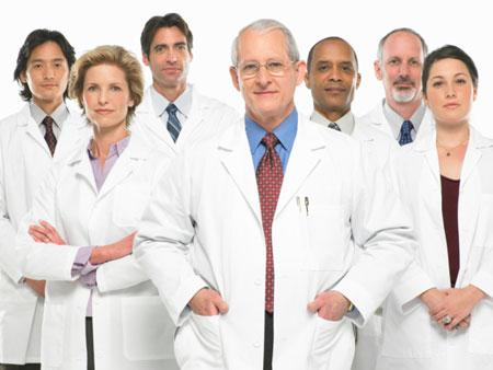 Equipe médica.