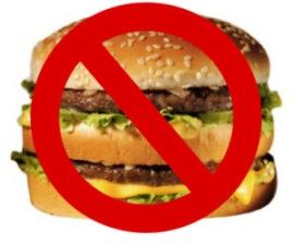 diga não aos fast food na tpm