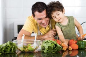 alimentação saudável exemplo dos pais