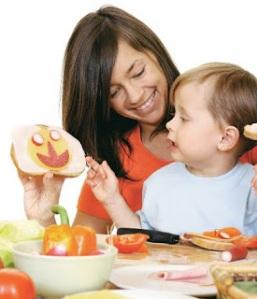 criança e comida